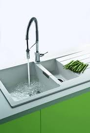 kitchen luxury grohe pull out kitchen sink faucet with single