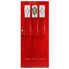 exterior doors with glass reclaimed 36 u201d exterior door with stained glass and fleur de lis