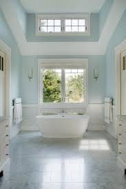 Light Blue Bathroom Ideas Interior Light Blue Wall With White Ceiling And Glass Window Plus