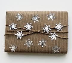 kraft paper gift wrap ideas popsugar smart living 1 white and aluminum snowflakes