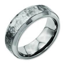 titanium men hammered finish mens titanium ring