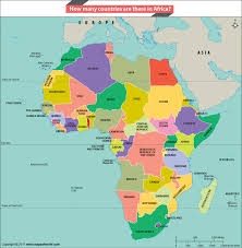 africa continent map how many countries are there in africa answers