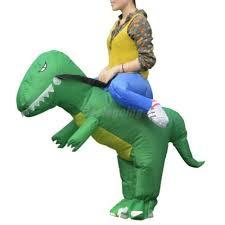 inflatable t rex kids costume blowup dinosaur ride fancy dress