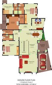 2 Storey Floor Plan Osagyefo Court Homes