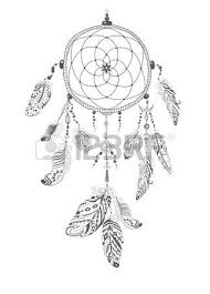 hand drawn illustration of dream catcher royalty free cliparts
