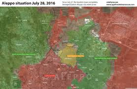 Syria Map Control by Russian Airstrikes In Syria June 29 July 27 2016 Institute