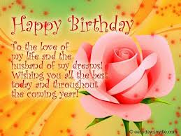 lovely birthday wishes for husband for facebook collection best