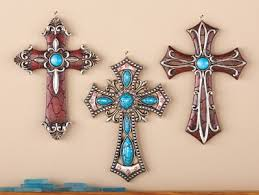 Cross Wall Decor by Western Hanging Cross Wall Decor Set Of 3 From Collections Etc