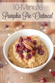 10 minute pumpkin pie oatmeal