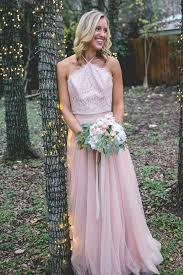 light pink halter dress light pink lace halter top a line tulle prom bridesmaid dresses