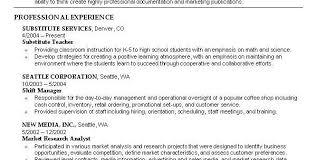 Substitute Teacher Job Description Resume by Objectives For Nursing Resume Cv01 Billybullock Us