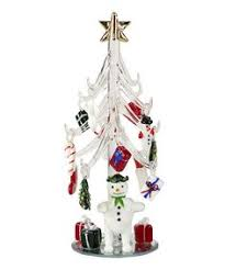glass tree with ornaments miniature tree solutions