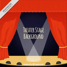 Stage With Curtains Theater Stage Background With Curtains And Spotlights Vector
