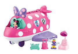 minnie s bowtique fisher price disney minnie polka dot jet toys