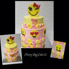 wedding cake emoji emoji cake buttercream cake with pink and yellow rosettes