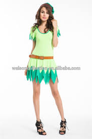 Green Fairy Halloween Costume Woman Green Fairy Cosplay Tinkerbell Fancy Dress Costume