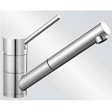 Blanco PeakS Pull Out BMSBS Brushed Steel Tap Kitchen - Brushed steel kitchen sinks
