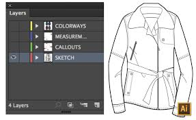 tutorial illustrator layers how to spec a garment in illustrator courses free tutorials on