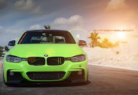 green bmw bmw stance wheels
