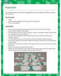 hopscotch u2013 free fun activity for 7 year old children u2013 jumpstart