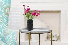 ikea gladom hack tutorial a granite spray paint table makeover apartment therapy