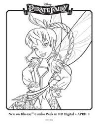 printable disney u0027s tinkerbell pirate fairy coloring pages 14
