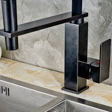 rubbed bronze kitchen sink faucet hammer kitchen faucet rubbed bronze finish squares stand