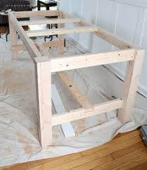 how to build a farm table and instructions creative w wood