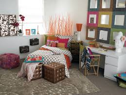 bedroom wonderful dorm room for student with rainbow couch and