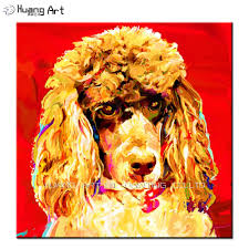 paintings for home decor online get cheap poodle painting aliexpress com alibaba group