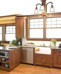 craftsman style kitchen cabinet ideas oak cabinets cherry