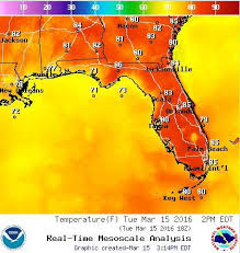 temperature map florida near record high temperatures in south florida but for how