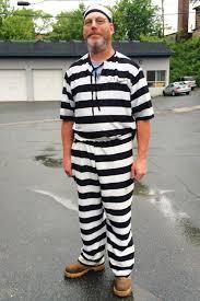 man in halloween costume transparent background man wears prisoner costume to jury duty time com