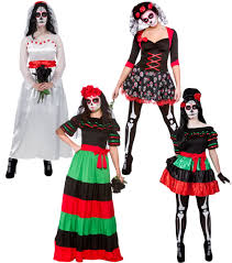halloween costume mexican skeleton day of the dead ladies fancy dress mexican undead adults womens