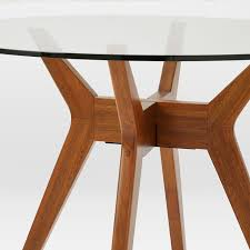 Circular Dining Room Tables - jensen round glass dining table west elm
