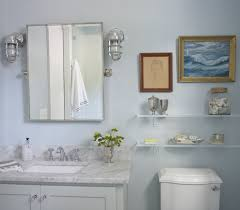 bathroom wall sconces with his and hers framed mirror window