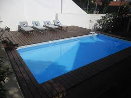 Intex Metal Frame Swimming Pools Pooldeck On Intex Ultraframe Swimming Pool 24 U0027x12 U0027x52