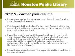 resume white space
