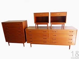 Westnofa Of Norway Danish Modern Teak Bedroom Set Mid Century - Mid century modern danish bedroom furniture