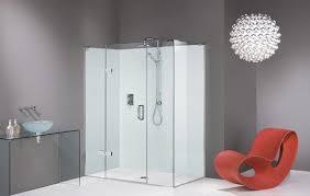 Bathroom Glass Shower Ideas by Very Simple Interior For Bathroom With White Glass Shower Room