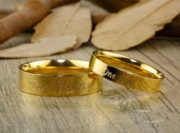 wedding rings gold handmade gold dome plain matching wedding bands rings set