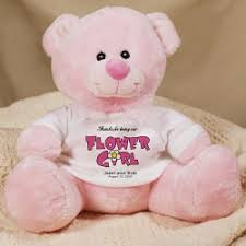 flower girl teddy bp120 personalized flower girl teddy 19 95 4 kidz partyz