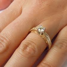 claddagh engagement ring 14k gold claddagh cut diamond ring