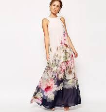 2017 summer floral print maxi dresses womens beach club casual