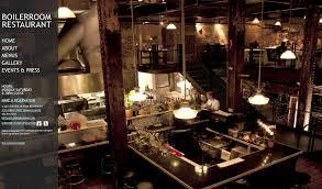 boiler room restaurant website on behance