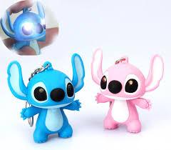5 5cm 2pcs cute lilo stitch toys cartoon movie stitch led