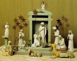 willow tree story nativity set lights decoration