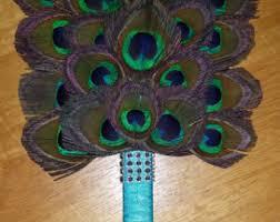 peacock feather fan peacock feather fan etsy