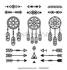 american indian design elements set stock illustration