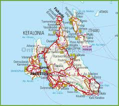 Greece Maps Tourist Map Of Kefalonia Kefalonia Maps Greece Maps Of Kefalonia